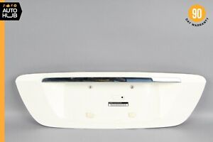 03-06 Mercedes W220 S430 S55 AMG Trunk Lid License Plate Panel Trim White OEM
