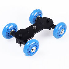 Blue Table Top Dolly Mini Track Slider Video Car for DSLR Camera Camcorder HD DV