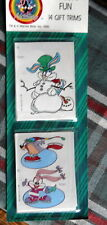 Vintage Christmas Gift Tags Eureka 4 Packages of cartoon folk *total of 56 tags