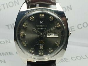 Vintage Ricoh Mechanical Automatic Movement Mens Wrist Watch WU421 A