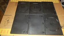 DVD Disc Cases Boxes Empty LOT OF 6 Black Single CD full size Storage CASE