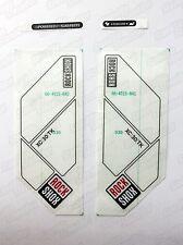 GENUINE NOS-Forcella di sospensione RockShox XC30 TK Forcella Decalcomanie-Argento (Cancella)