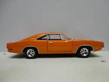 Johnny Lightning LOOSE 1969 DODGE CHARGER Orange '69 w/RR 1:24 scale