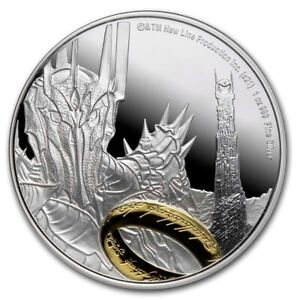 Niue - 2021 - 1 OZ Silver Proof Coin- Lord of The Rings Sauron