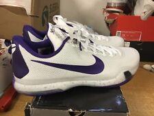 Nike Kobe X 10 (813030-150 White Purple Low Ds Sz 17 Free Ship Max One 1 I V Bo