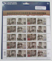USPS 1999 Distinguished Soldiers #3393-6 Full Sheet of 20 Stamps 33c MNH