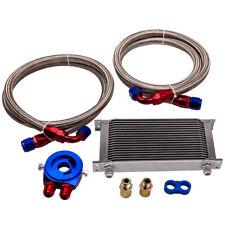 Universal Zusatz Ölkühler Set 19 Reihen mit Anschluss-Set mit Filteradapter