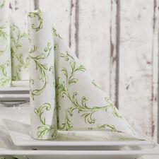 100 Mank Manola Tissue Ornaments Servietten Hochzeit Taufe 3-lagig 33x33 cm grün