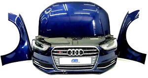 Audi S4 B8 Avant Frontpaket Motorhaube Kotflügel Stoßstange Xenon Estorilblau