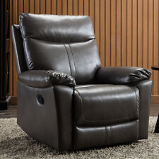 Leather Recliner Chair Padded Seat Reclining Couch Sofa Theater Seat Living Room