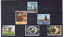 Zambia Fauna Valores del año 1968-94 (DH-988)