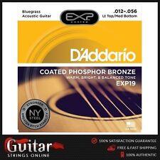 D'Addario EXP19 Coated Phosphor Bronze Acoustic Guitar Strings 12-56 Daddario