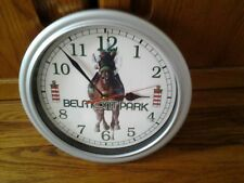 BELMONT RACE TRACK BATTERY OPERATED WALL CLOCK. COLLECTIBLE ITEM.