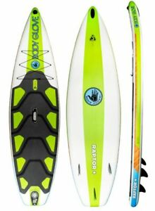 """RAPTOR+ 10'8"""" INFLATABLE PADDLE BOARD - GREEN/WOOD"""