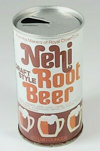 Vintage Nehi Root Beer Soda Pop Can 12oz Straight Steel Royal Crown Chicago IL