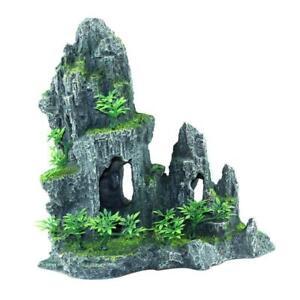 Mountain View Decor Rockery Landscape Rock Hiding Cave Aquarium Ornaments