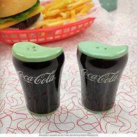 Coca-Cola bell glass salt & pepper shaker set coke salt and pepper shakers new