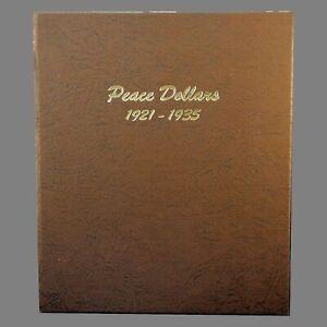 Dansco US Peace Dollar Coin Album 1921 - 1935 #7175