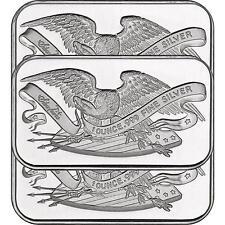 Retro SilverTowne Eagle and Shield 1oz .999 Silver Bar (3pc)