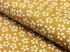 Japanese Fabric_Cotton_Mustard,Sakura_Half Yard,#m009