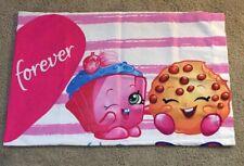 Shopkins Best Friends Standard Pillowcase Pink 20 in x 30 in Twin size NWOT