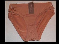 "NWT-Parisa PB0138 Fe Microfiber Bikini "" Brown Sugar"" Panty 8/XL  $18"