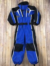 Spyder Snowsuit One Piece Ski Suit Blue Black Boys Youth Small (2) Waterproof