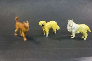 1/18 Domestic Animal Model Figure Lot Dogs
