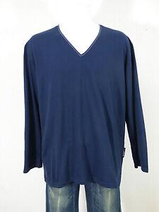 Van Laack Herren Langarm Shirt L/XL - DE / Dunkelblau Neuwertig ( Q 9435 )