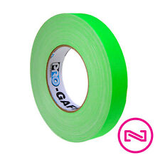 """ProTapes Pro Gaff NEON GREEN GAFFERS TAPE 1"""" x 50 yd Roll"""