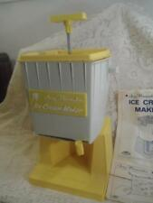 Vintage Childs Suzy HomeMaker Ice Cream Maker Churn By Topper Toys w/Instruction