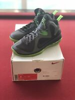"Nike Lebron 9 IX ""Dunkman"" Dark Gray Volt Black 469764-006 Size 8"