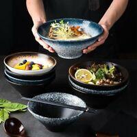 Japanese Style Noodle Bowl Ceramic Soup Salad Rice Bowls Home Kitchen Tableware