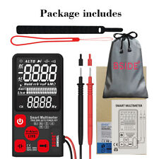 ADMS9CL Smart Auto Digital Multimeter 3-line Display Voltage Resistance Tool