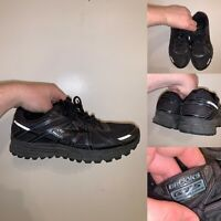 Brooks GTS 17 Mens Size 9 Running Shoes Lace Up Black Comfort Reflective Logo