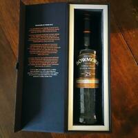 Bowmore 25 Year Empty Bottle & Empty Box Super Rare Vintage