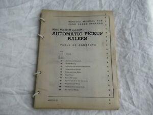 1952 John Deere 114W 116W baler repair shop service manual