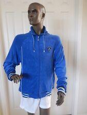 NIKE AIR JORDAN TERRY CLOTH HOODY-JACKET BLUE-WHITE SZ L SUPER RARE!