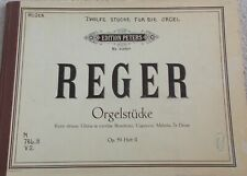 Max Reger Organ Pieces Op 59 #2 Variety Works Unmarked