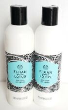 2 NEW The Body Shop FIJAN WATER LOTUS BODY LOTION 8.4 OZ Bottle Refreshing