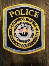 COLUMBUS GEORGIA POLICE PATCH SHOULDER SIZE UNUSED