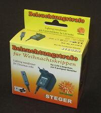 Steger Beleuchtungs-Trafo für Krippenbeleuchtung mit Verteiler *NEU/OVP*