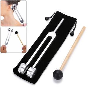 OM 128 Hz Stimmgabel Neurologie Vibrationsgabel Medizinische Stimmgerät + Hammer