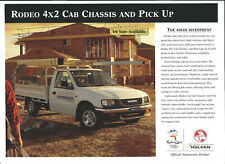 HOLDEN RODEO 4X2 CAB CHASSIS AND PICK UP BROCHURE