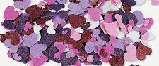 20 Valentine Glitter Hearts Foam Self-adhesive