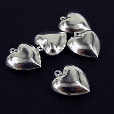 Love Corazones plateado plata encanto Colgantes la fabricación de joyas Pulsera pk10 Ch31