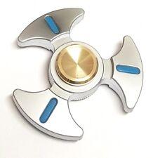 Silver METAL Blade Design Fidget Spinner - UK Seller & Stock + FREE Delivery!