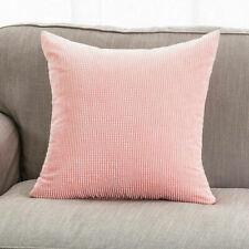 Pillow Case Sofa Waist Throw Cushion Cover Solid Corn Corduroy Home Decor L97