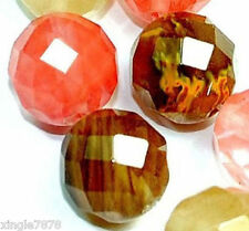"""10mm Faceted Multi-Color Watermelon Tourmaline Gemstone loose Beads 15"""" AA"""