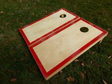 Regulation Red Border Hardcourt Cornhole Board Set W/O Bags